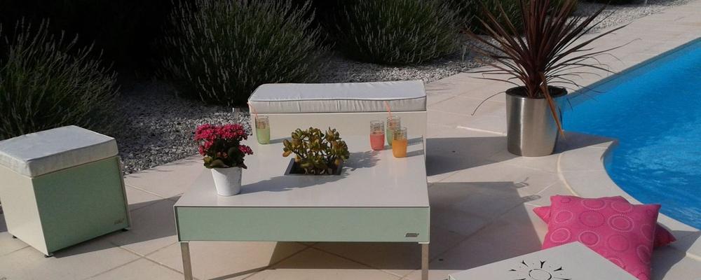 Salon de jardin m tallique for Petite table de jardin metallique